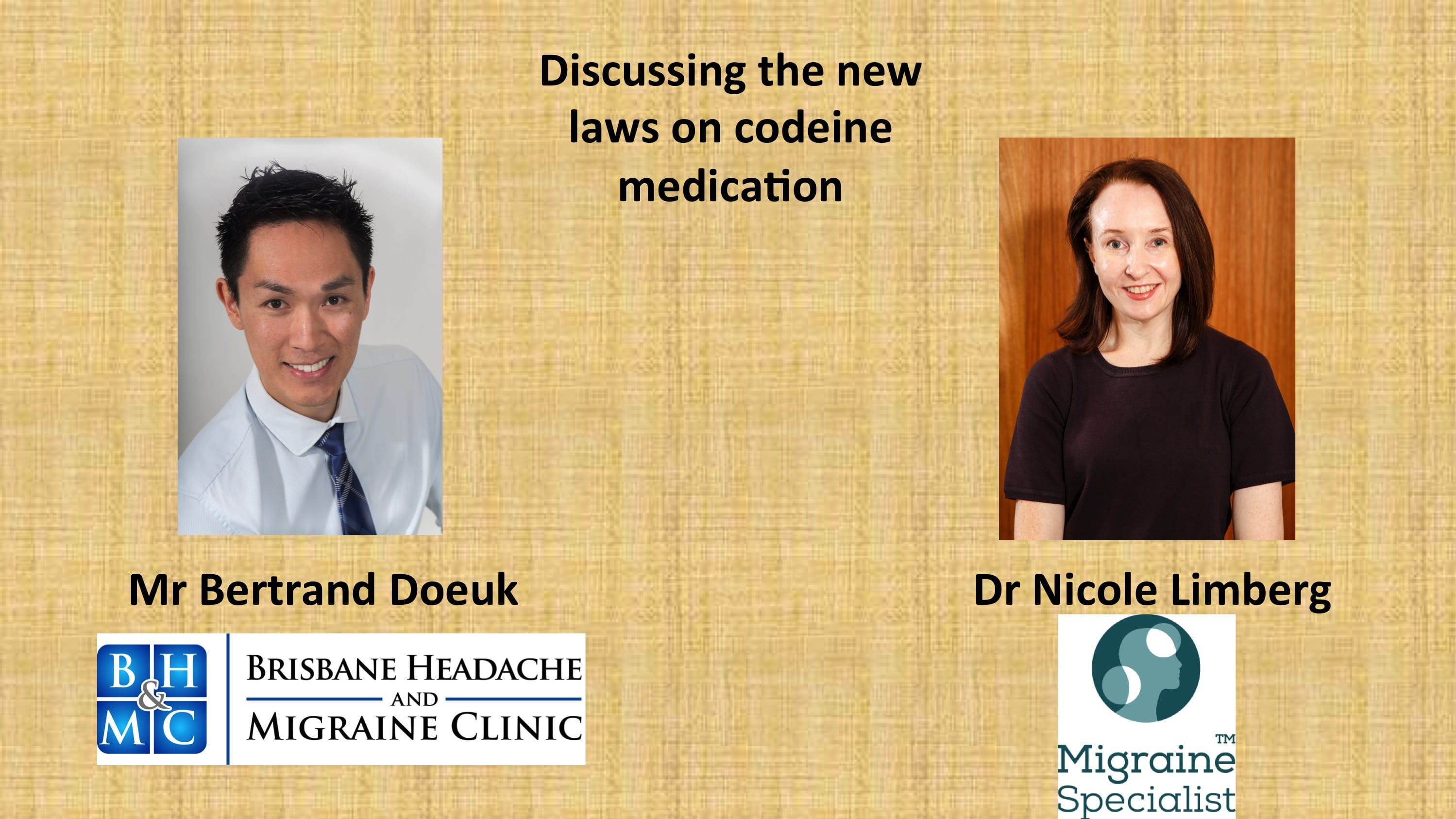 Migraine Health News – New Over-the-Counter Medication Laws. Dr Nicole Limberg and Bertrand Doeuk's Discussion